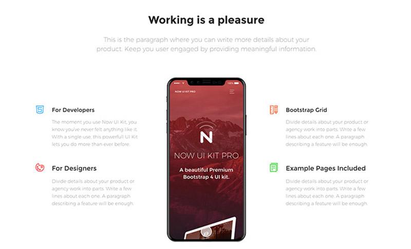 Presentation Page - Now UI Kit Pro by Creative Tim   Premium