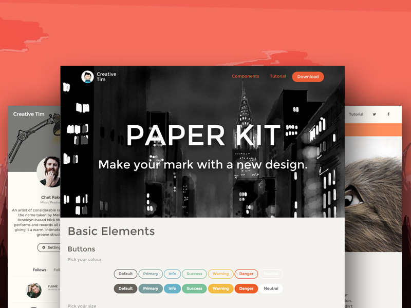 Paper Kit: Free Bootstrap UI Kit @ Creative Tim
